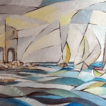2012 Barche alla Meloria 50x70cm