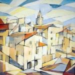 """quartiere """"LaVenezia""""(Li)-acrilico su tavola-80x80cm"""